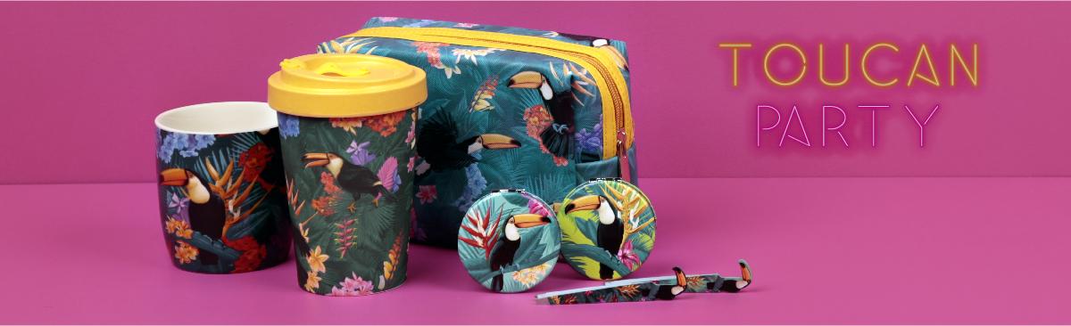¡Únete a los diseños tropicales con Fiesta Tucán!